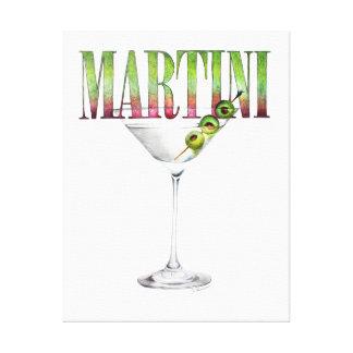 Arte de la pared del cóctel de Martini Lienzo Envuelto Para Galerias