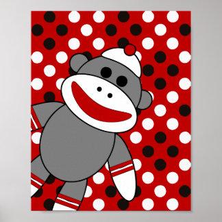 Arte de la pared del cuarto de niños del mono del posters