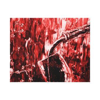 Arte de la pared del extracto del vino rojo