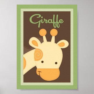 arte de la pared del lecho del bebé del safari de  poster