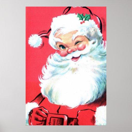 Arte de la pared del poster de Papá Noel para el n