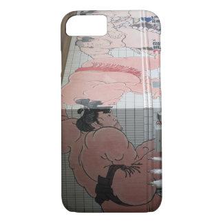 Arte de la pared del sumo funda iPhone 7