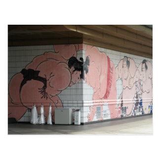 Arte de la pared del sumo postales