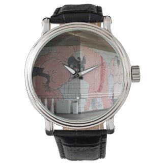Arte de la pared del sumo relojes de pulsera