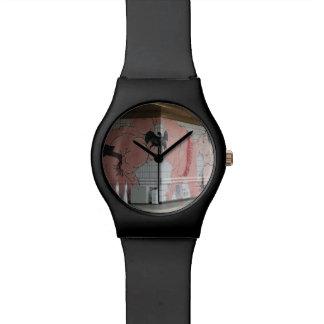Arte de la pared del sumo reloj de mano