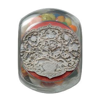 Arte de la pared del templo frascos de cristal jelly belly