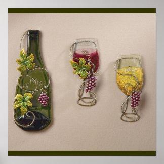 Arte de la pared del vino posters
