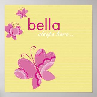 ARTE DE LA PARED:: mariposa flutterby 2 Posters