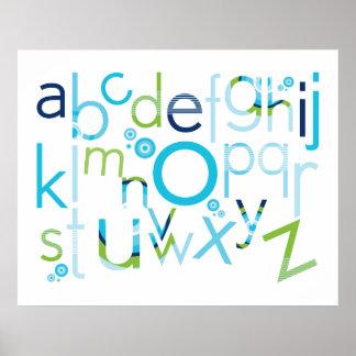 ARTE DE LA PARED:: TIPOGRAFÍA - alfabeto de moda 6 Póster