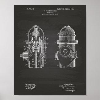 Arte de la patente de la boca de incendios 1903 - póster