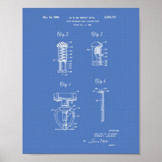 Arte de la patente de la cabeza de regadera del póster
