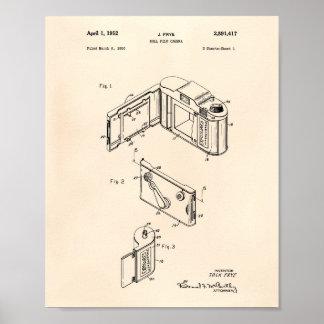 Arte de la patente de la cámara 1952 de la póster