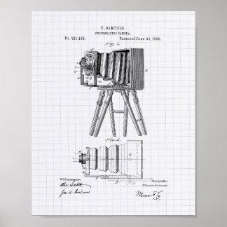 Arte de la patente de la cámara fotográfica 1885 - póster