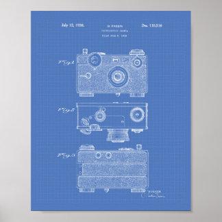 Arte de la patente de la cámara fotográfica 1938 - póster