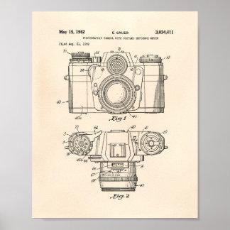 Arte de la patente de la cámara fotográfica 1959 - póster