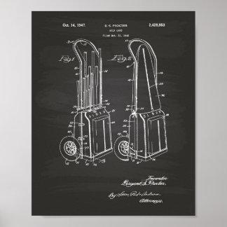 Arte de la patente del carro de golf del vintage póster
