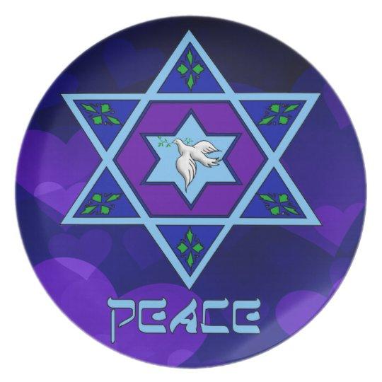 Arte de la paz de Jánuca Plato Para Fiesta