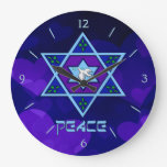 Arte de la paz de Jánuca Relojes De Pared