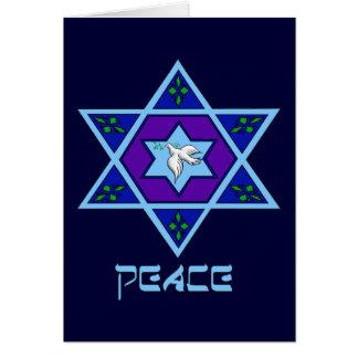 Arte de la paz de Jánuca Tarjeta De Felicitación