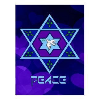 Arte de la paz de Jánuca Tarjeta Postal