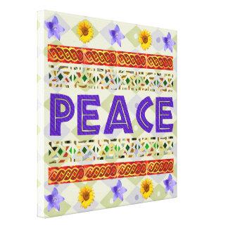 Arte de la paz impresión en lona