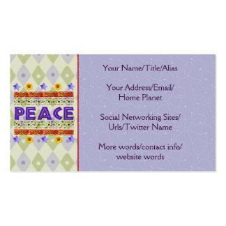 Arte de la paz tarjetas de visita