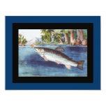 Arte de la pesca con mosca del vintage invitación 10,8 x 13,9 cm