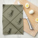 Arte de la pesca con mosca toallas de cocina