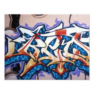 """Arte de la pintada de la calle invitación 4.25"""" x 5.5"""""""