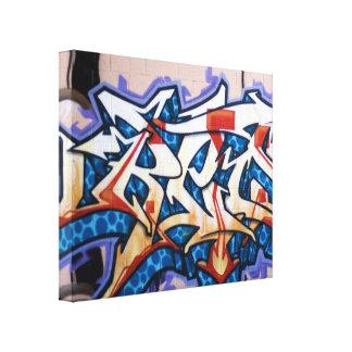 Arte de la pintada de la calle lienzo envuelto para galerías