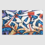 Arte de la pintada de la calle pegatina rectangular