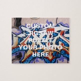 Arte de la pintada de la calle puzzle con fotos