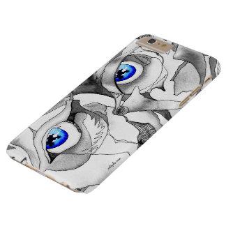 Arte de la pintada de los ojos azules funda para iPhone 6 plus barely there