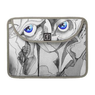 Arte de la pintada de los ojos azules funda para macbooks