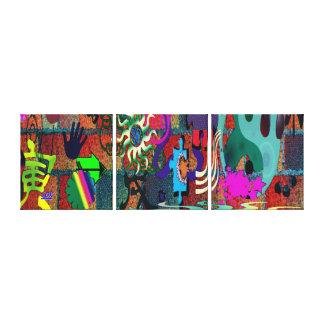 arte de la pintada del color de la U-selección en Lona Envuelta Para Galerías