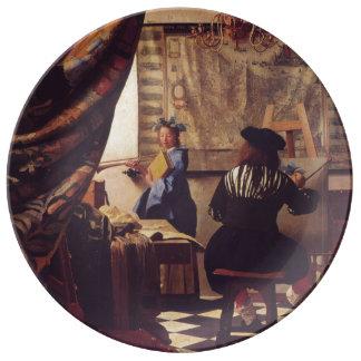 Arte de la pintura de Juan Vermeer Plato De Cerámica