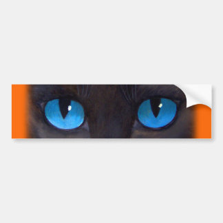 Arte de la pintura de la mariposa del gato negro - etiqueta de parachoque