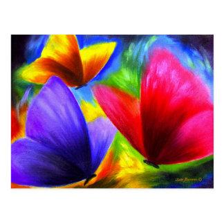 Arte de la pintura de la mariposa - multi postales
