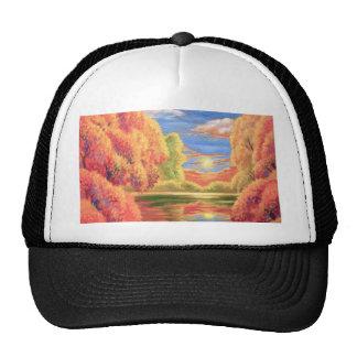 Arte de la pintura de paisaje - multi gorros bordados