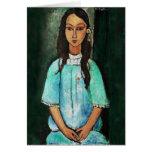 Arte de la pintura del chica del vintage de Amedeo Felicitaciones
