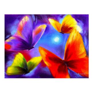 Arte de la pintura del desfile de la mariposa - tarjeta postal