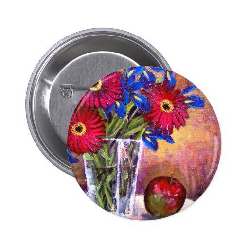 Arte de la pintura del florero del iris de la marg pin