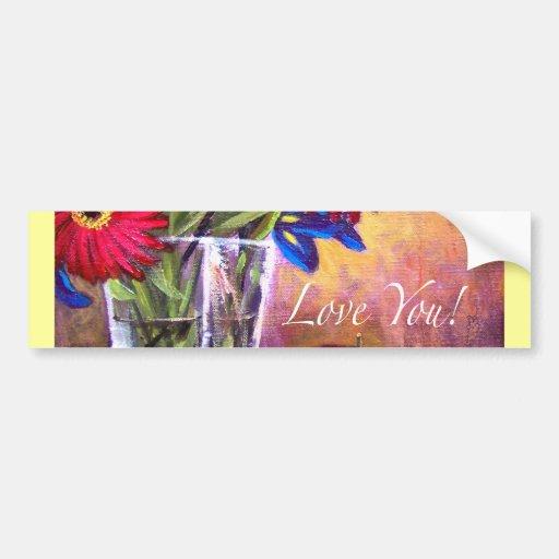 Arte de la pintura del florero del iris de la pegatina para auto