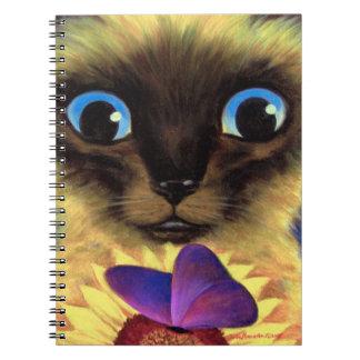 Arte de la pintura del gato siamés del cuaderno