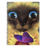 Arte de la pintura del gato siamés del cuaderno es