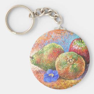Arte de la pintura del mandarín de la pera de llavero redondo tipo pin