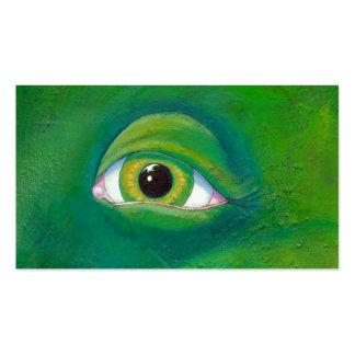 Arte de la pintura del ogro del lagarto de la rana tarjeta de visita