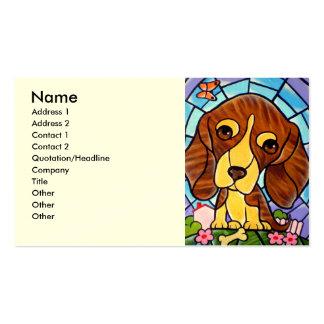 Arte de la pintura del perro casero - multi tarjetas de visita