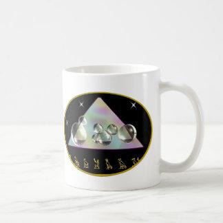 arte de la pirámide tazas de café