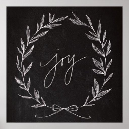 Arte de la pizarra - guirnalda de la alegría póster